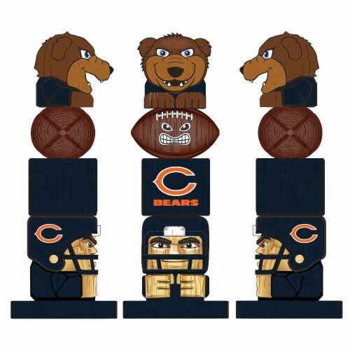Chicago Bears Team Garden Statue Perspective: back