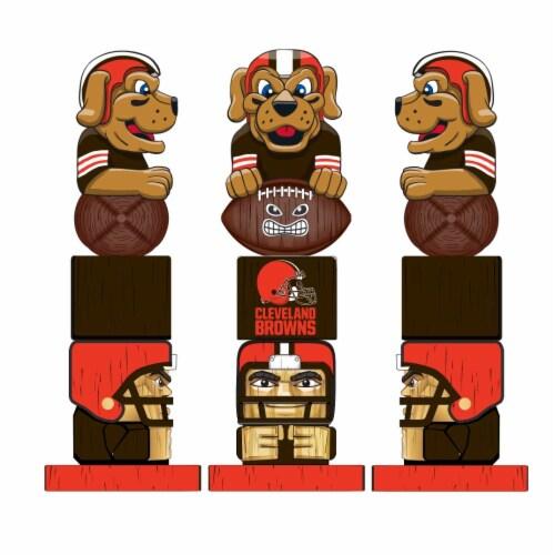 Cleveland Browns Team Garden Statue Perspective: back