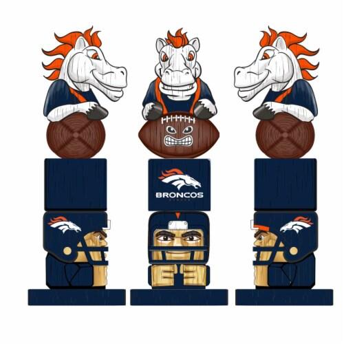 Denver Broncos Team Garden Statue Perspective: back