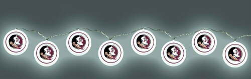 FSU Florida State Seminoles LED String Light Set 8.5 Feet Long Perspective: back