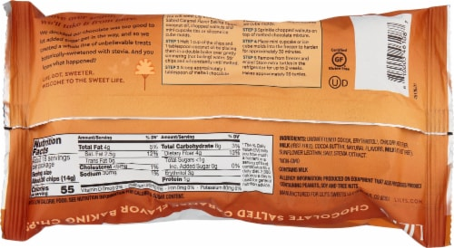 Lily's® Gluten Free Chocolate Salted Caramel Flavored Baking Chips Perspective: back