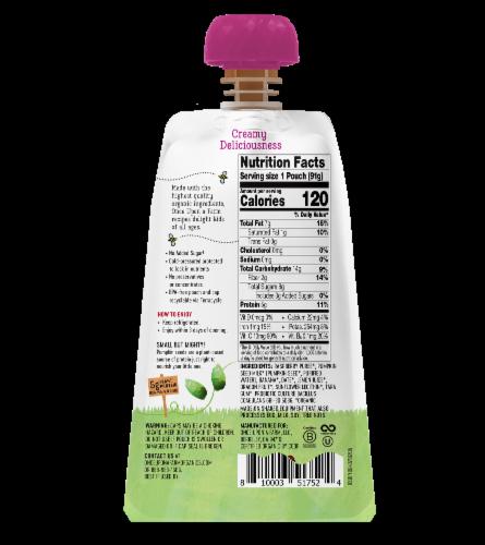 Once Upon a Farm Organic Raspberry Kids Dairy-Free Yogurt Perspective: back