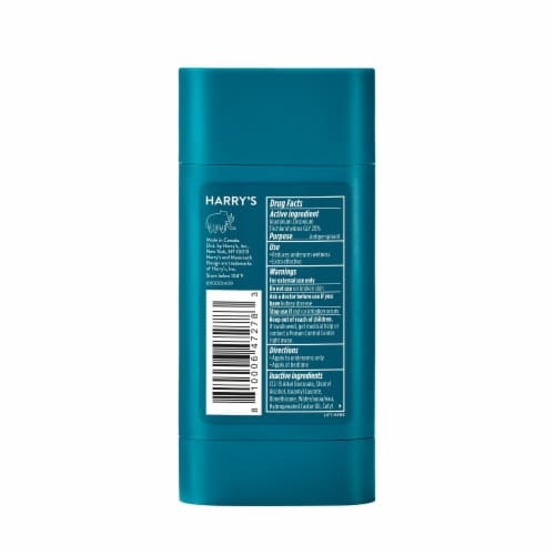 Harry's Odor & Enhanced Sweat Control Stone Scent Extra-Strength Antiperspirant Perspective: back