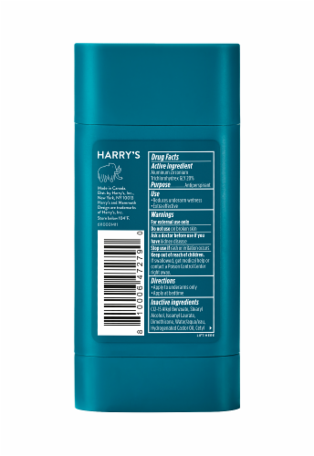 Harry's Odor & Enhanced Sweat Control Fig Scent Extra-Strength Antiperspirant Perspective: back
