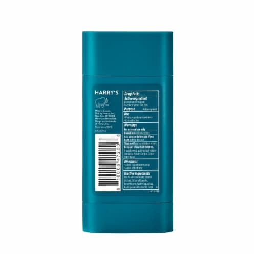 Harry's Odor & Enhanced Sweat Control Redwood Scent Extra-Strength Antiperspirant Perspective: back