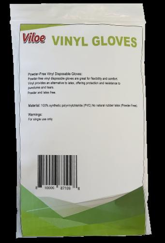 Viloe M-L Vinyl Gloves 10 Count Perspective: back
