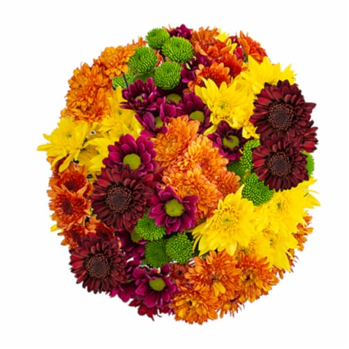 Fall Poms Bouquet Perspective: back