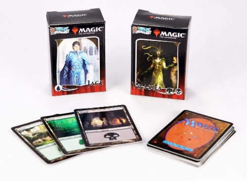 Super Impulse World's Smallest Magic the Gathering Duel Deck Card Game Perspective: back
