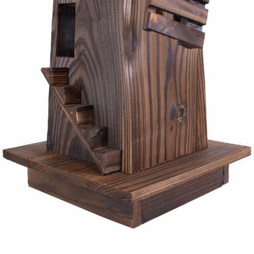 Sunnydaze Outdoor Decorative Wood Dutch Windmill - Lawn Decor - 34-Inch Perspective: back