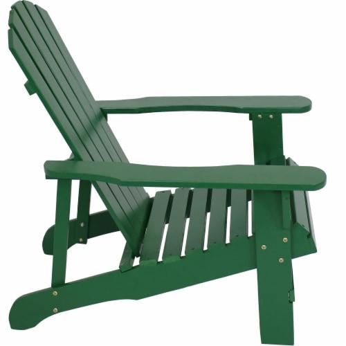 Sunnydaze Coastal Bliss Wooden Adirondack Chair - Green Perspective: back