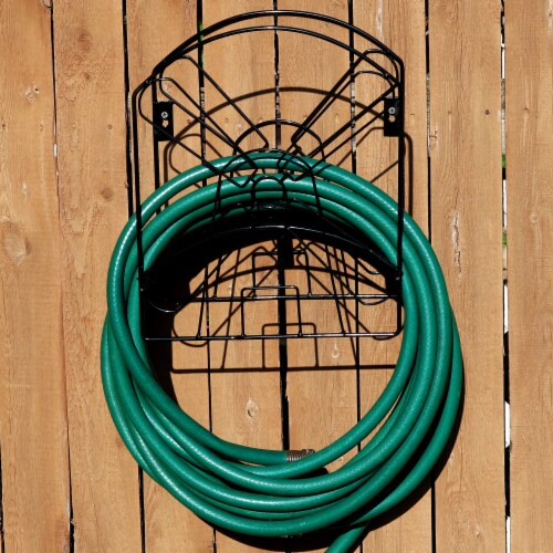 Sunnydaze Metal Garden Hose Stand with Classic Dutch Windmill Design - 42-Inch Perspective: back