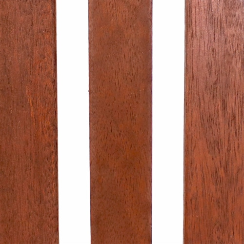 Sunnydaze Meranti Wood Bar Height Chairs - Set of 2 Perspective: back