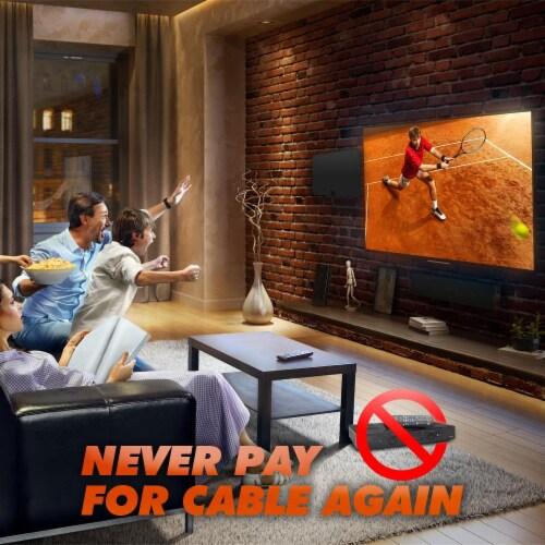 Amplified Hd Digital Tv Antenna Long 90 Miles Rang Perspective: back