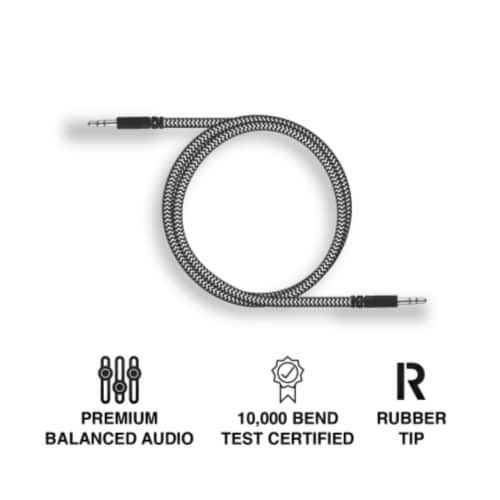 Ihip 3ft Braided Auxiliary Audio Cable Perspective: back