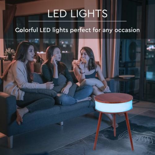 Wireless Light-up Led Speaker Table Perspective: back