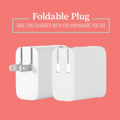 Mochic Wall Charger Dual Port Usb A & Type C 36w Perspective: back