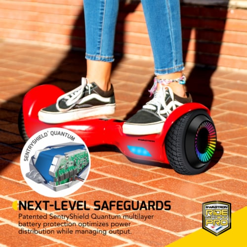 Swagtron Swagboard Twist Remix Kids LED Hoverboard Perspective: back