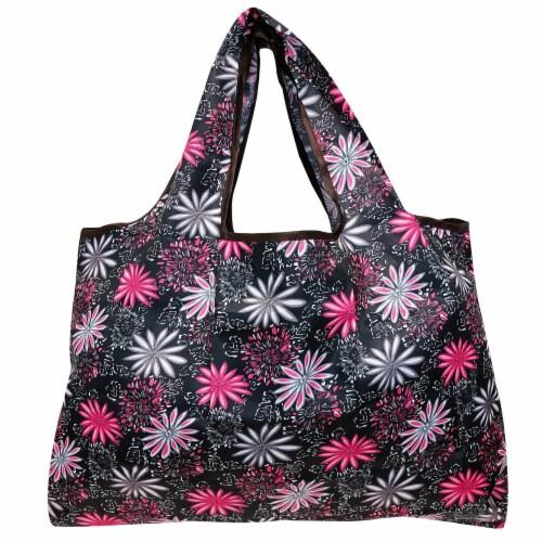 Wrapables Large Nylon Reusable Shopping Bag, Mystique Perspective: back