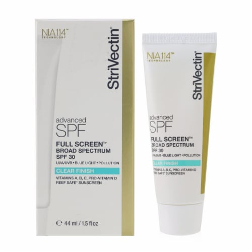 Full Screen SPF 30 - Clear Finish by Strivectin for Unisex - 1.5 oz Sunscreen Perspective: back