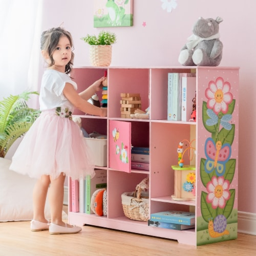 Fantasy Fields Magic Garden Adjustable Cube Bookshelf TD-13210B Perspective: back
