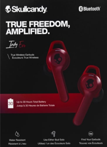 Skullcandy Indy Evo True Wireless Earbuds - Red Perspective: back