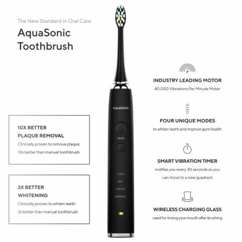 AquaSonic Black Series Pro - Electric Toothbrush Perspective: back