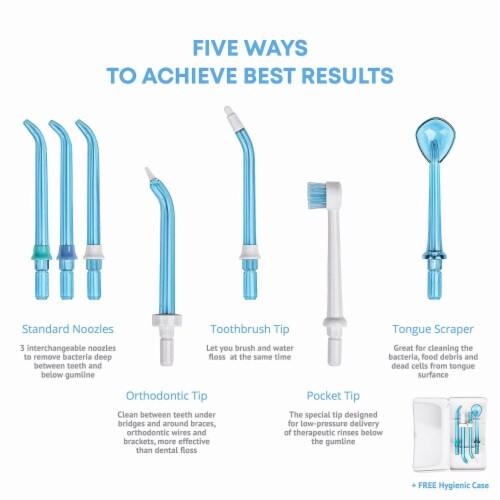 Pure Daily Care Aqua Flosser Pro with 12 Attachments Perspective: back