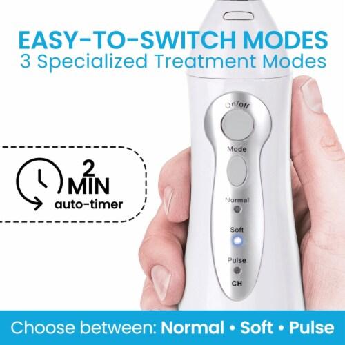 Aqua Flosser - Professional Rechargeable Oral Irrigator & 4 dental tools Perspective: back