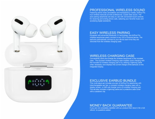 Airplus Ultimate Wireless Bluetooth Earbuds - White Perspective: back