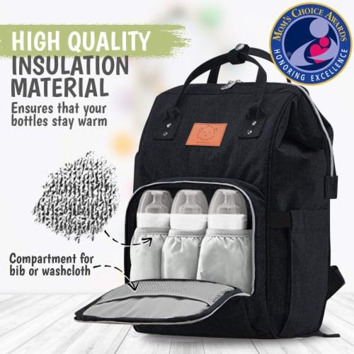 Original Diaper Backpack (Trendy Black) Perspective: back