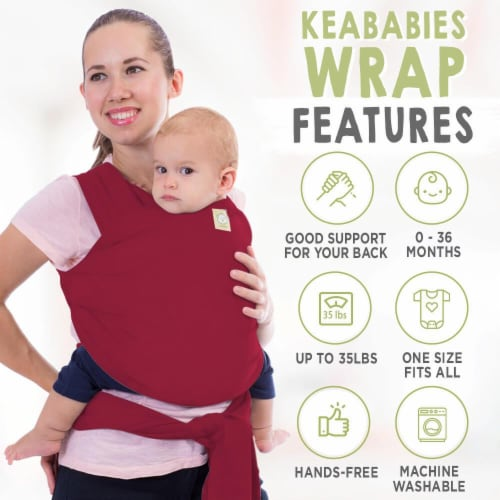 Baby Wrap Carrier (Royal Magenta) Perspective: back
