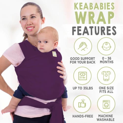 Baby Wrap Carrier (Royal Purple) Perspective: back