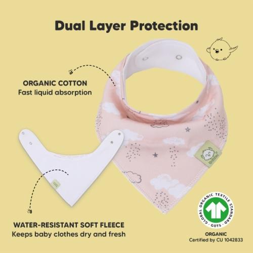 8-Pack Organic Baby Bandana Bibs (Sweet Charm) Perspective: back