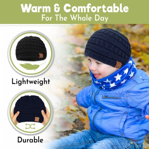3-Pack Warmzy Baby Beanies (Urban) Perspective: back