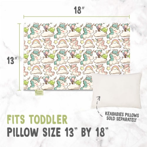 "Printed Toddler Pillowcase 13X18"" (Unicorn Dreams) Perspective: back"