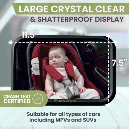 Baby Car Mirror For Rear Facing Infant Car Seat (Sleek Black) Perspective: back