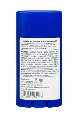Dr Teal's Lavender Vanilla Aluminum Free Deodorant Perspective: back