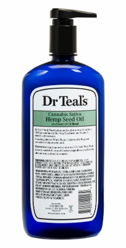 Dr Teal's Hemp Seed Oil Body Wash Perspective: back