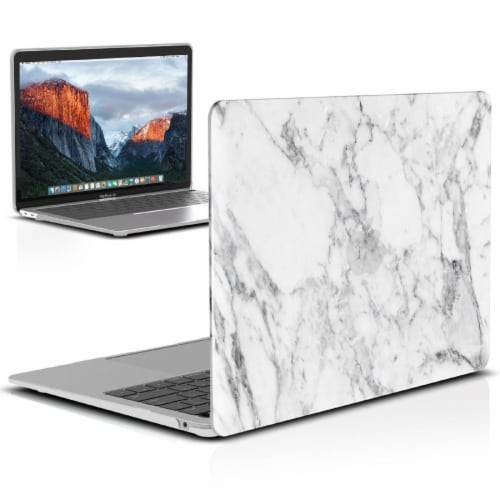 iBenzer Laptop Computer Case for MacBook Air - White Marble Perspective: back
