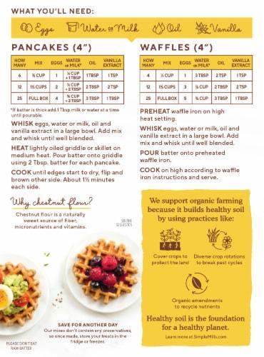 Simple Mills Organic Chestnut Flour Pancake & Waffle Mix Perspective: back