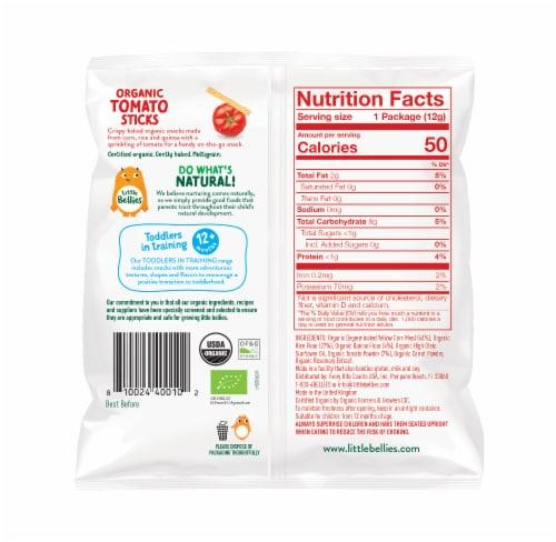 Little Bellies Organic Tomato Sticks Snacks Perspective: back