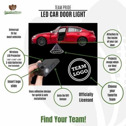 NFL Arizona Cardinals Team Pride LED Car Door Light Perspective: back