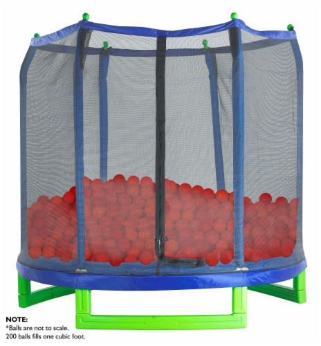 Upper Bounce Crush Proof Plastic Trampoline Pit Balls 200 Pack - Red Perspective: back