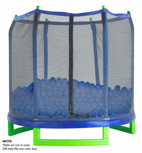 Upper Bounce Crush Proof Plastic Trampoline Pit Balls 500 Pack - Blue Perspective: back