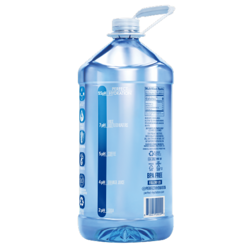Perfect Hydration 9.5+ pH Alkaline Water Perspective: back