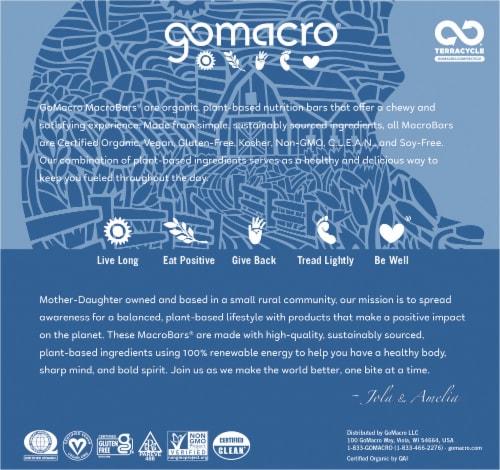 GoMacro MacroBar Oatmeal Chocolate Chip Bars Perspective: back