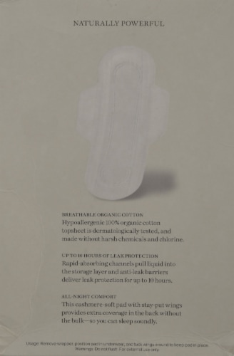 Cora Organic Cotton Ultra Thin Extra Long Overnight Pads Perspective: back