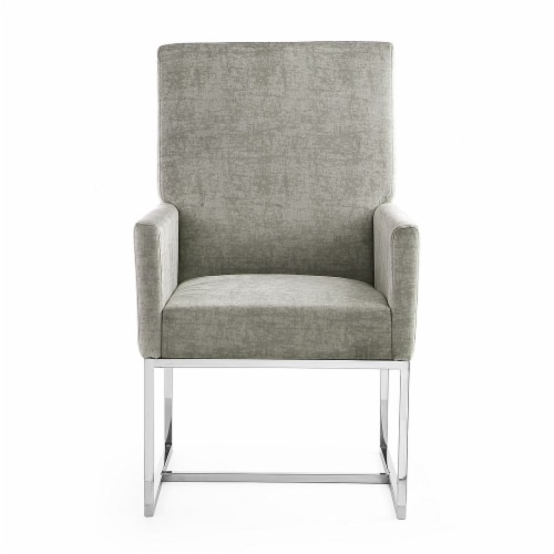 Manhattan Comfort Element Steel Velvet Dining Armchair Perspective: back