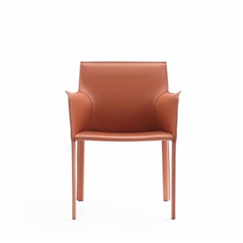 Manhattan Comfort Paris Clay Saddle Leather Armchair Perspective: back