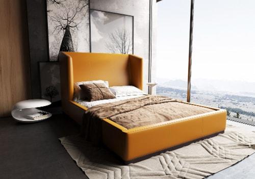 Manhattan Comfort Lenyx Saddle Queen Bed Perspective: back